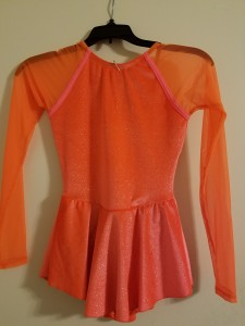 Orange dress, great condition, size Child Large, $10