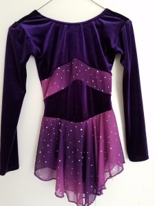 Dark purple dress with jewels, size Youth 8/10, $20