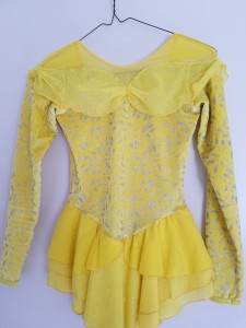 Yellow princess dress, size Youth 12/14, $20
